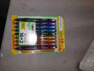 18  BIC Gelocity Original Retractable Gel Pen  0 7mm  Multi Color