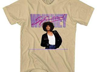 Whitney Houston So Emotional Sand T Shirt Sand large