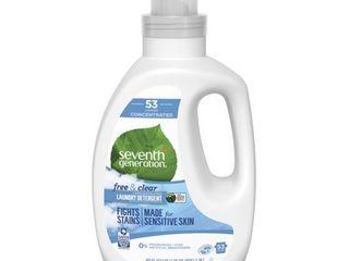 1 Seventh Generation liquid laundry 4x  Free and Clear  40 Fl Oz