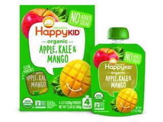 HAPPYSQUEEZE  TWIST BlENDED FRUIT   VEGGIE SNACK  APPlE  KAlE   MANGO