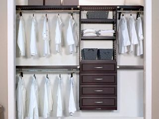 Woodcrest Closet System Reach In Sets in Espresso