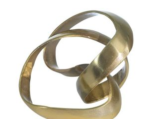 Sagebrook Home Aluminum Knot Sculpture  7  Gold  9 X 9 X 7