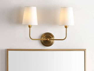 Safavieh lighting Ezra 2 light Wall Sconce  17 5 x 7 x 13 5
