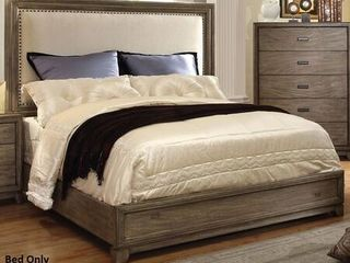 Transitional NatuPlatform Bed Queen headboard