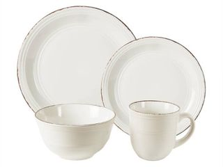 American Atelier Madelyn 16 Piece Dinnerware Set in White