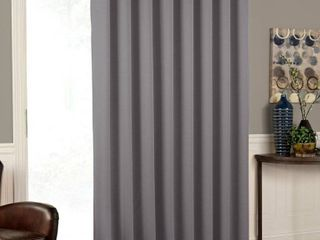 Charlton Home Stanwood Solid Room Darkening Grommet Single Curtain Panel  Set of 6  in Grey