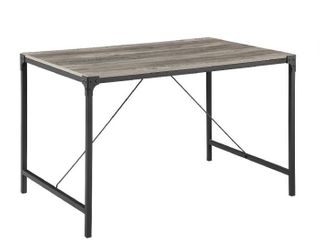 Walker Edison Furniture TW48AIGW Industrial Wood Dining Table  Grey Wash   30 x 32 x 48 in