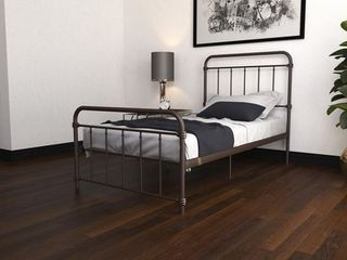 DHP Wallace Metal Bed  Twin  Bronze