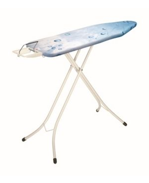 Brabantia Ironing Board with 22mm Ivory Frame   Ice Water Cover   Steam Iron Rest