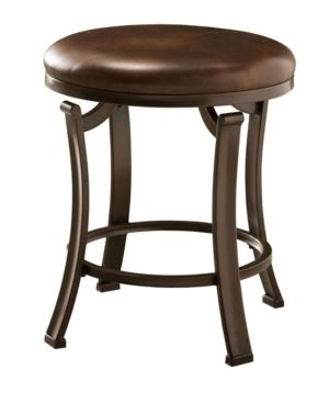 Hillsdale Hastings Backless Vanity Stool  Antique Bronze