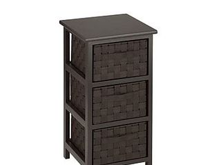 Honey Can Do 3 Drawer Storage Organizer Chest  12  x 24  Espresso Brown