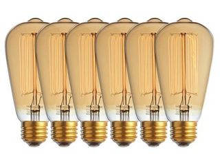 Newhouse lighting 60 Watt Vintage Edison Incandescent Filament light Bulb  Medium  E26  Base E27  6 Pack