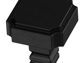 liberty Hardware Notched 1 1 8  Square Cabinet Knob   Black   Set of 10