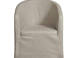 Home Fare Slipcover Barrel Back Chair with Casters
