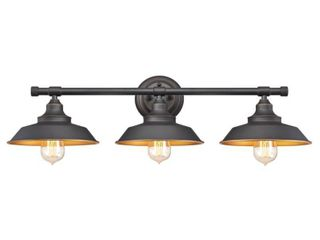 Westinghouse 6344900 Iron Hill 30  Wide 3 light Bathroom Vanity light   Bronze