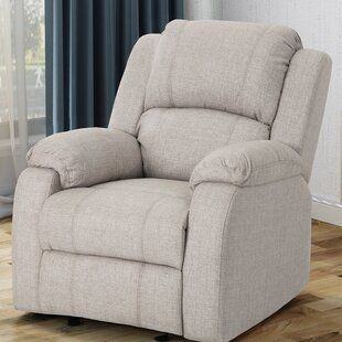Sabra Manual Glider Recliner Chair Beige