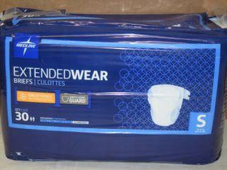 Bag of 30 Medline ExtendedWear Briefs