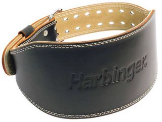 Harbinger 6  Padded leather Belt Weightlifting Belt