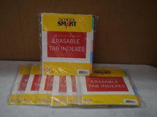 8 Packages Erasable Tab Indexes