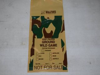 1000 Wild Game Freezer Bags   Holds Approximately 1 Pound
