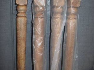 Set of 4 Wooden Table legs   28
