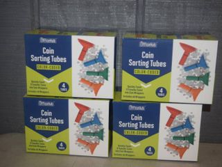 4 Sets of Coin Sorting Tubes