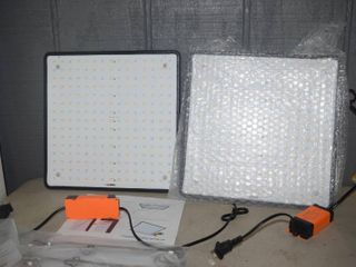 Pair of Green Indoor lED Grow lights 12  x 12