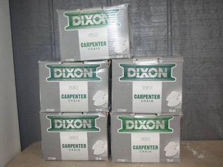 5 Boxes Dixon Carpenter Chalk