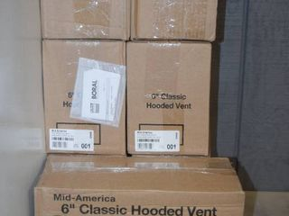 7 Mid America 6  Classic Hooded Vent Dryer Vent   White
