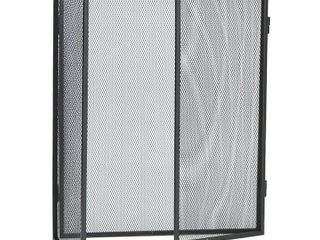 Black Tri Panel Fireplace Screen   30  tall   Panels are 12  30  and 12