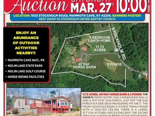5 BEDROOM 3 BATH HOME 11.7 ACRES 40'X64' HORSE BARN WITH STALLS