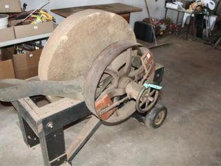 Belt Driven Stone Grinding Wheel