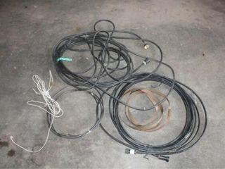 long Black Extension Cord  Sprinkler Hose  IJ  Cop