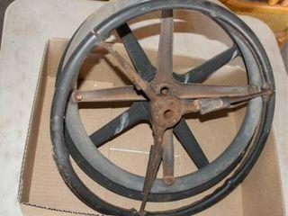 3   Vintage Antique Steering Wheels
