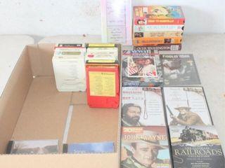 DVD s  VHS  8 Tracks  CD s