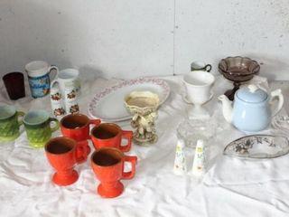 Glassware   Mugs  Salt   Pepper Shakers  Tea Sets