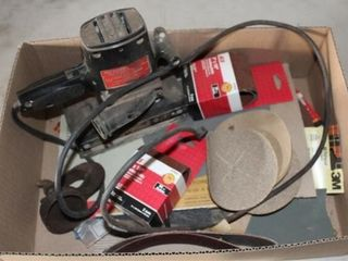 Craftsman Dual Action Sander  sanding belts  misc