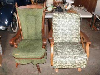 2 Vintage Antique Rocker Chairs