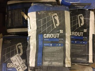 8 25 lb bags Sanded Grout light Buff
