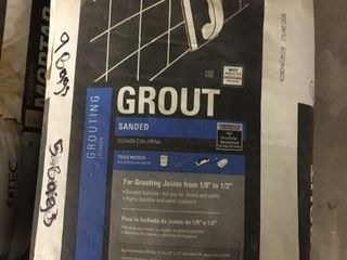 9 25 lb Bags Sanded Grout light Buff