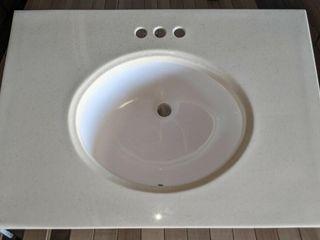 30  Vanity Sink Top  round bowl