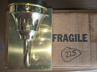 Single light Brass Wall Sconce