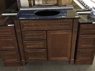 3 Pc 64  Bathroom Vanity with Granite sink top