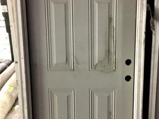 36  lH Steel Entry leaded Glass Prehung Door