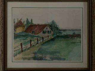 Original Watercolour Dutch Obscure Artist Signed