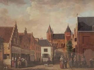 Framed Print Dutch City Scene