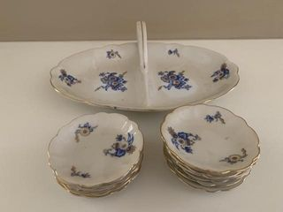 Bavarian Porcelain Bowls and Server