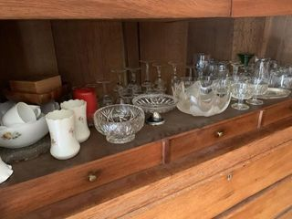 large lot of Collectable Glassware and Misc