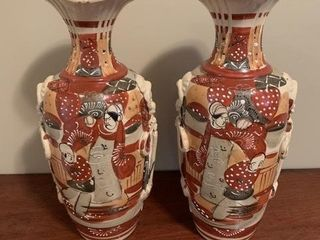 Pair of Early Satsuma Vases