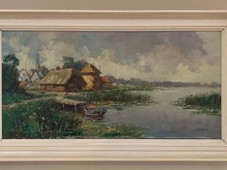 Original Dutch Oil on Canvas Painting